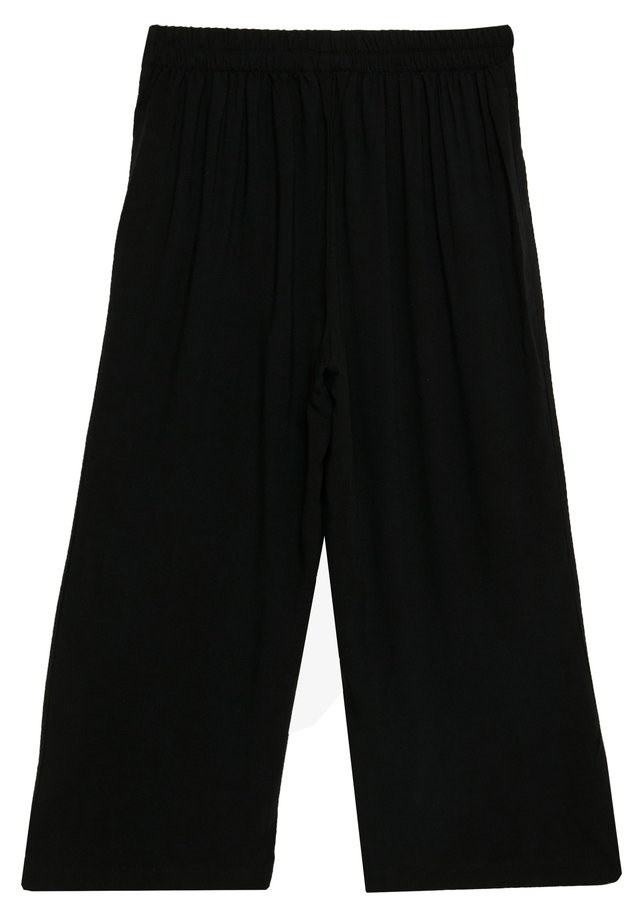 VMSIMPLY EASY CULOTTE PANT - Tygbyxor - black