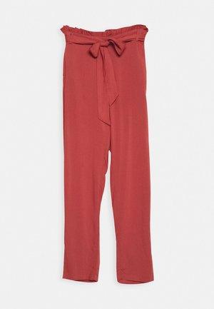 VMSIMPLY EASY PAPERBAG PANT - Pantalon classique - marsala