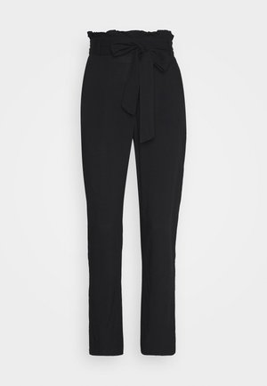 VMSIMPLY EASY PAPERBAG PANT - Broek - black