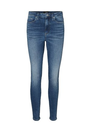 SKINNY FIT JEANS VMSOPHIA HIGH WAIST - Jeans Skinny Fit - medium blue denim
