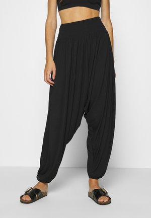 HAREM ELASTIC PANT  - Bukse - black