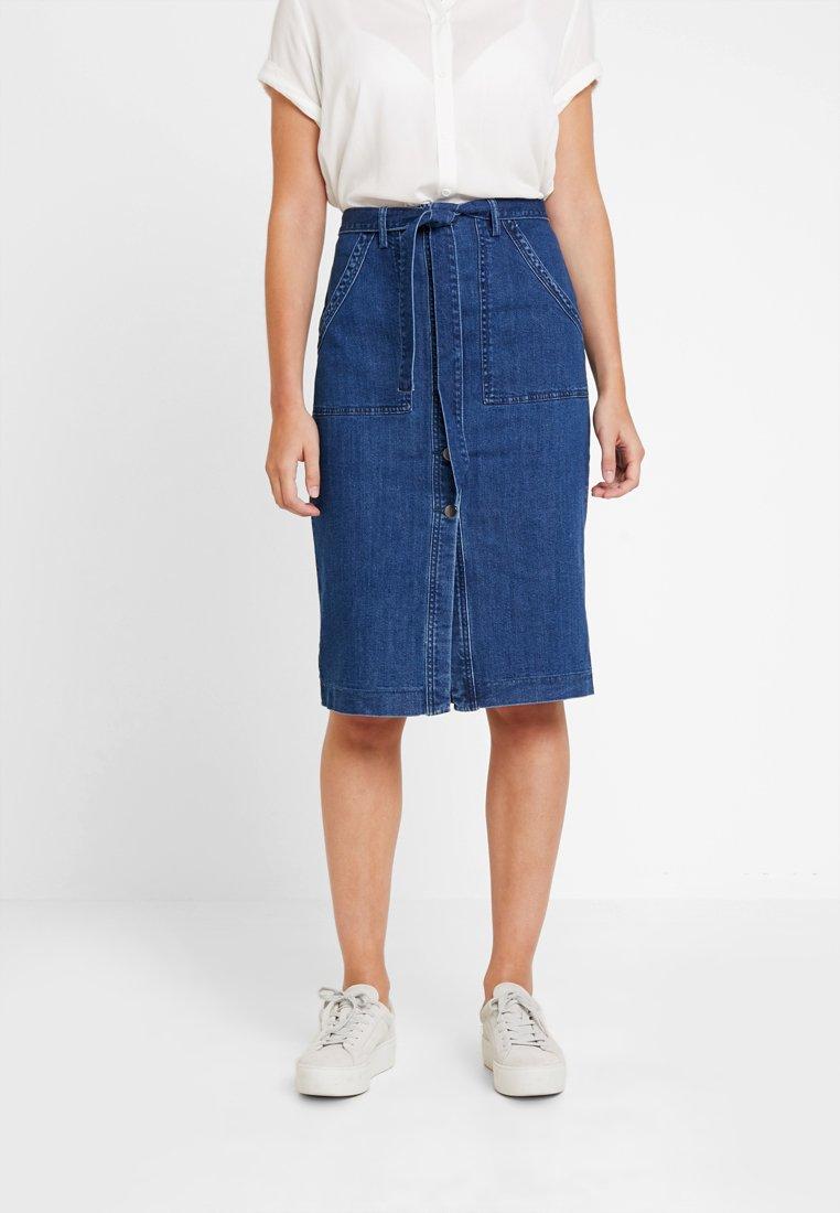 Vero Moda - Spódnica ołówkowa  - medium blue denim