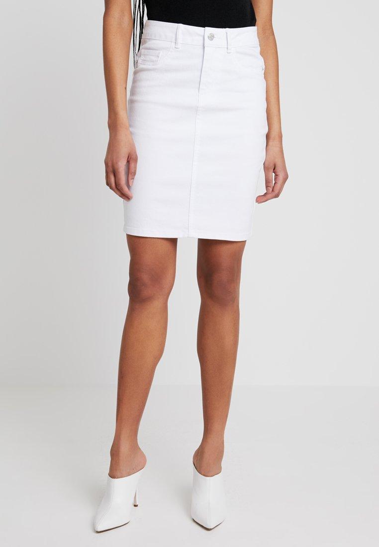 Vero Moda - VMHOT NINE PENCIL SKIRT MIX - Kokerrok - bright white