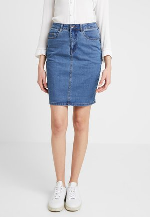 Pencil skirt - medium blue denim