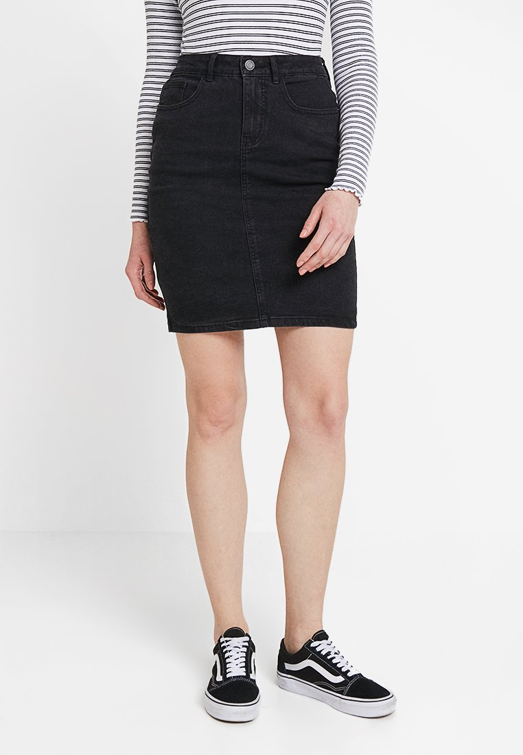 Vero Moda - VMHOT NINE PENCIL SKIRT MIX - Falda de tubo - black