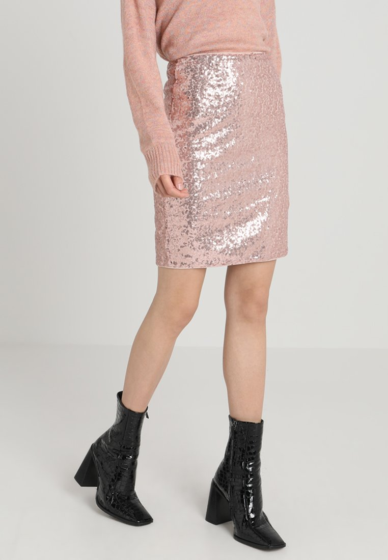 Vero Moda - VMSILVYA SKIRT - Mini skirt - misty rose/rose gold