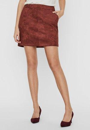 KURZER - A-line skirt - dark brown