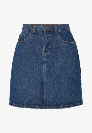 VMKATHY SKIRT BOO - Denimová sukně - medium blue denim