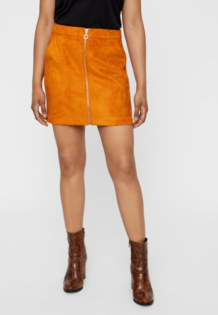 Vero Moda - REGULAR FIT - A-line skirt - honey ginger