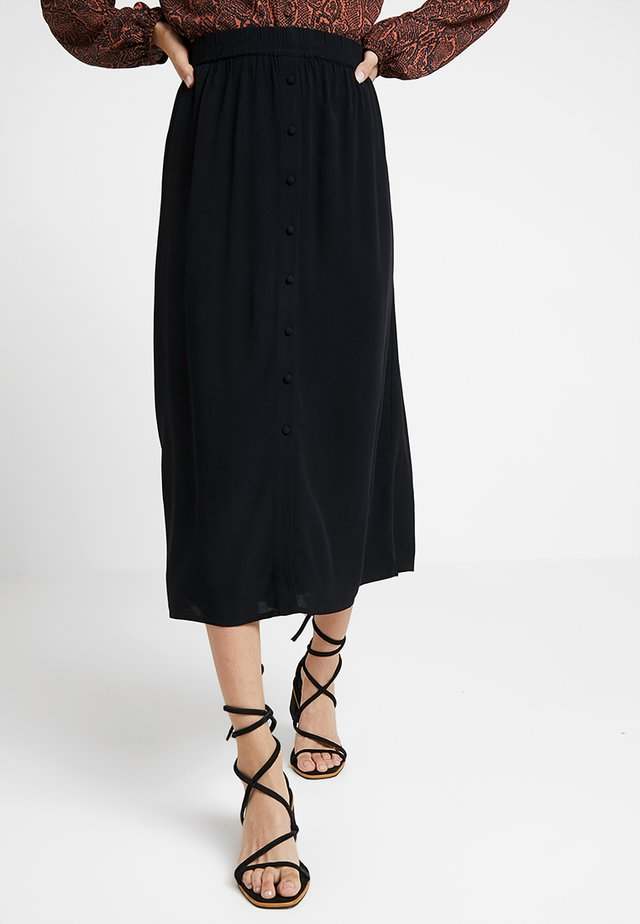 VMGAEL CALF - A-line skirt - black