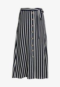 Vero Moda - VMSASHA ANCLE SKIRT NOOS - A-lijn rok - navy blazer/snow white coco - 3