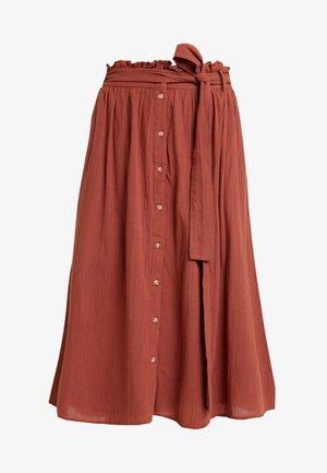Spódnica trapezowa - mahogany