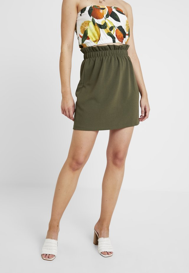 VMCOCO GABRIELLE FRILL SKIRT - A-linjekjol - ivy green