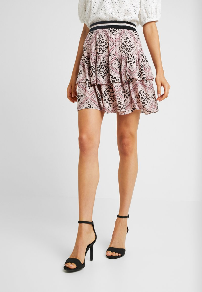 Vero Moda - VMAMSTERDAM LAYER SHORT SKIRT - Pliceret nederdel /Nederdele med folder - misty rose