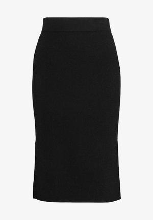 VMNANCY PENCIL SLIT SKIRT - Pouzdrová sukně - black