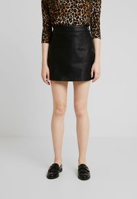 Vero Moda - VMINA SHORT SKIRT - A-Linien-Rock - black - 0