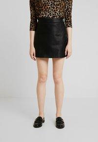 Vero Moda - VMINA SHORT SKIRT - Áčková sukně - black - 0
