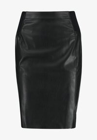 Vero Moda - VMBUTTERSIA COATED SKIRT - Kokerrok - black - 3