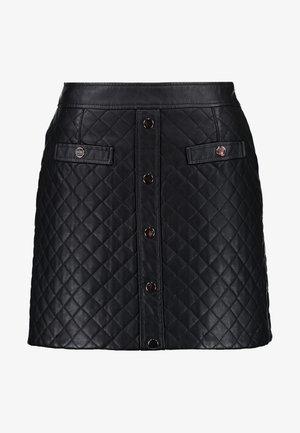VMCHANNE COATED SHORT SKIRT - A-line skirt - black