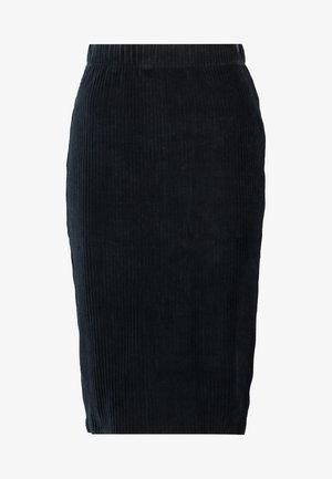 VMAMANDA CALF PENCIL SKIRT - Pouzdrová sukně - black