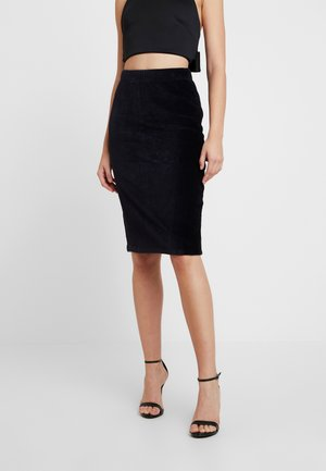 VMAMANDA CALF PENCIL SKIRT - Pennkjol - black