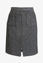 VMTOYA HERRINGBONE SKIRT - A-line skirt - black/white