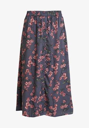 VMMALLIE BUTTON SLIT SKIRT - Spódnica trapezowa - ombre blue