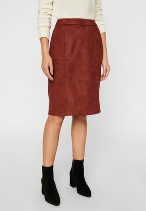 Pencil skirt - madder brown