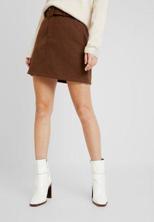 VMBLAIRE - Mini skirt - cognac