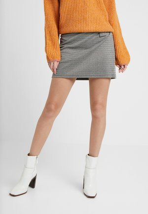 VMELISA SHORT SKIRT - Spódnica mini - black/birch/coffee bean