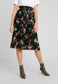 Vero Moda - VMABBIE SKIRT - Áčková sukně - black - 0