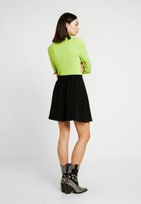 Vero Moda - VMLENA SHORT SKIRT - A-line skirt - black - 2