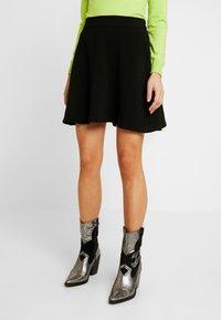 Vero Moda - VMLENA SHORT SKIRT - A-line skirt - black - 0