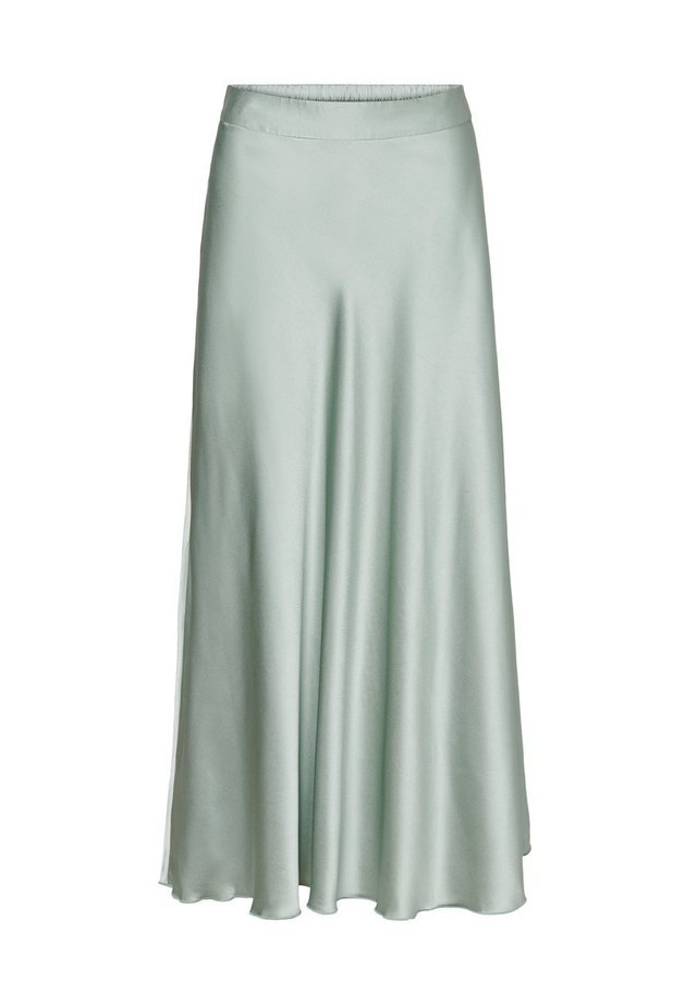 VMCHRISTAS H/W LONG SKIRT SB2 - Veckad kjol - green milieu