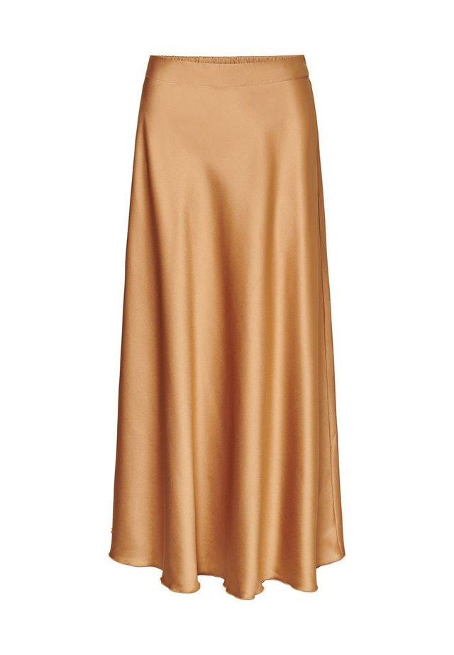 VMCHRISTAS H/W LONG SKIRT SB2 - Veckad kjol - tobacco brown