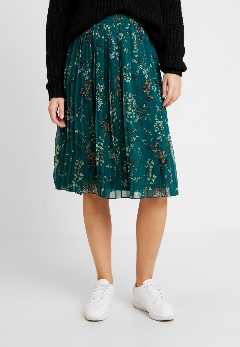 Vero Moda - VMJULIE SKIRT - Áčková sukně - atlantic deep/aopjulie