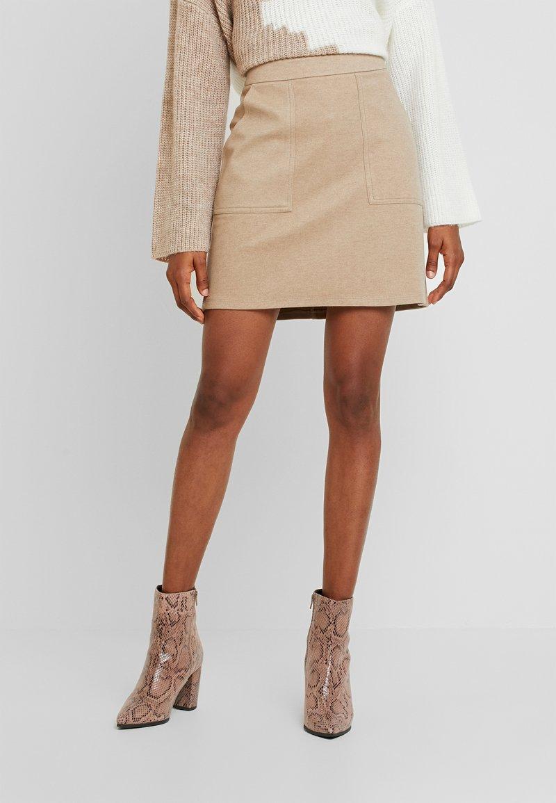 Vero Moda - FELICITY - Mini skirt - silver mink
