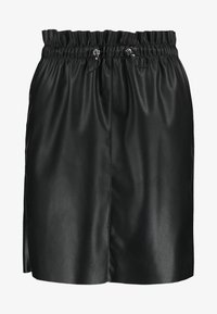 Vero Moda - VMAWARDSIF SHORT COATED SKIRT - Miniskjørt - black