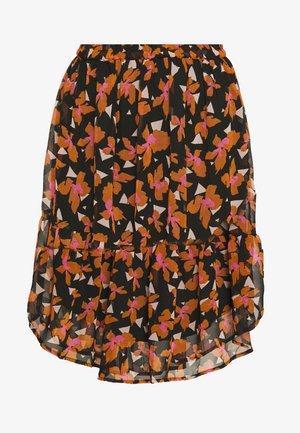 VMIRIS KNEE SKIRT - A-line skirt - black/iris