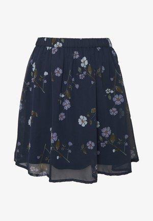 VMFALLIE SHORT SKIRT  - Pleated skirt - navy blazer/fallie