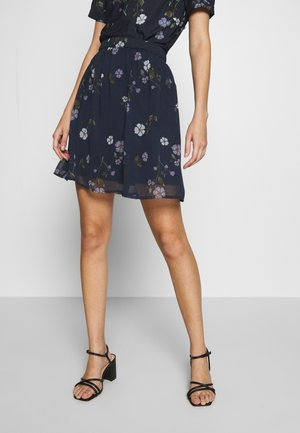 VMFALLIE SHORT SKIRT  - Pleated skirt - navy blazer/fallie