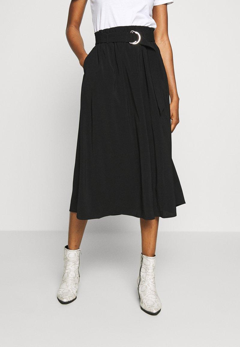 Vero Moda - VMCOC SKIRT - Áčková sukně - black