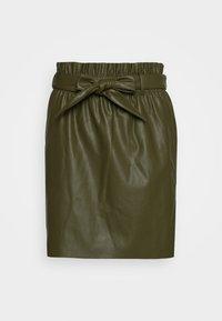 Vero Moda - VMAWARDBELT SHORT COATED SKIRT - Falda acampanada - ivy green - 4