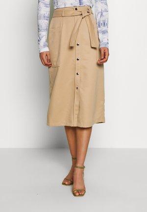 VMKAISA BELT  - A-line skirt - beige