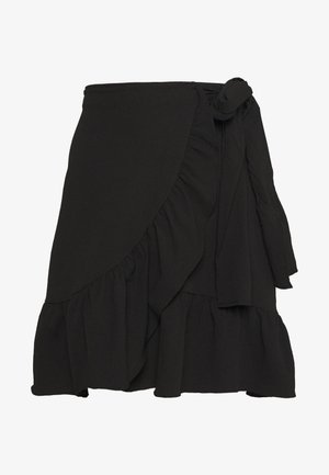 VMCITA BOBBLE WRAP SKIRT - Falda acampanada - black