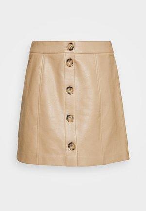 VMIVA COATED SKIRT - Áčková sukně - beige