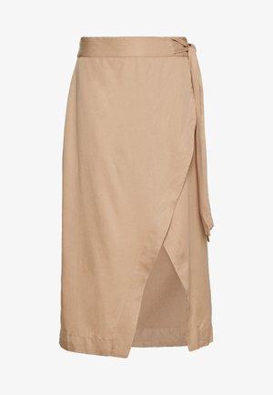 VMKATELIN NW WRAP SKIRT VMA - A-line skirt - beige