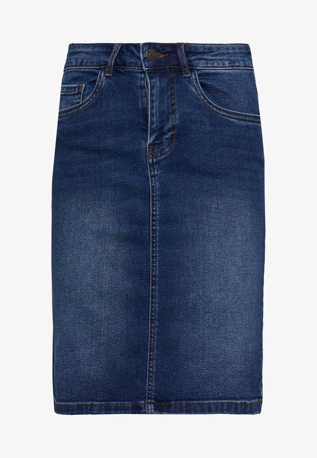 VMSEVEN MR PENCIL SKIRT MIX - Pencil skirt - medium blue denim