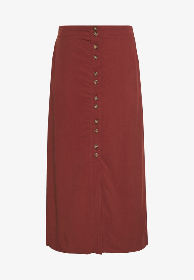 VMHAFIA 7/8 SKIRT - A-line skirt - dark red
