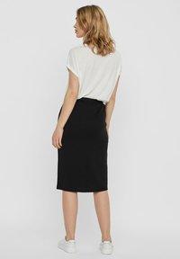Vero Moda - ROCK NORMAL WAIST - A-line skirt - black - 2